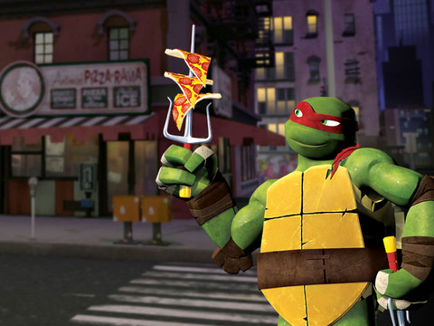 Pizza de Nueva York, ¡al estilo ninja!