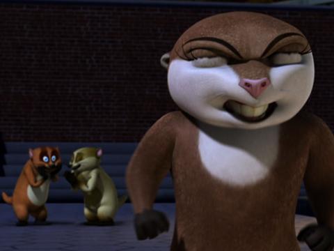 """The Penguins of Madagascar: """"Badger Pride"""""""