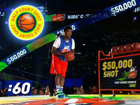"Kids' Choice Sports 2015: ""The Ultimate Half-Court Shot!"""