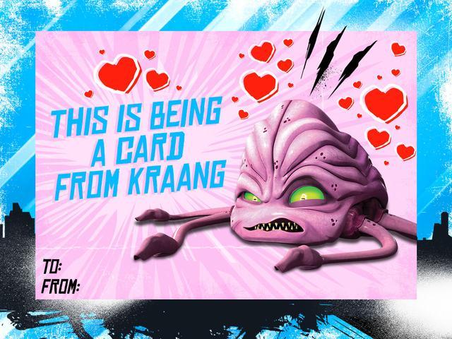 Teenage Mutant Ninja Turtles Valentines Day Cards From
