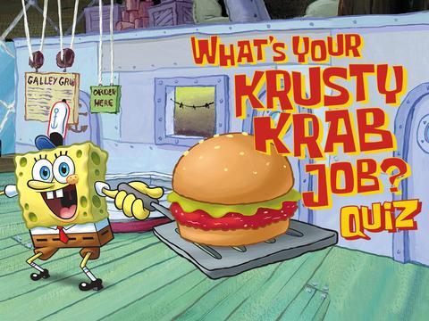 SpongeBob SquarePants: What's Your Krusty Krab Job?