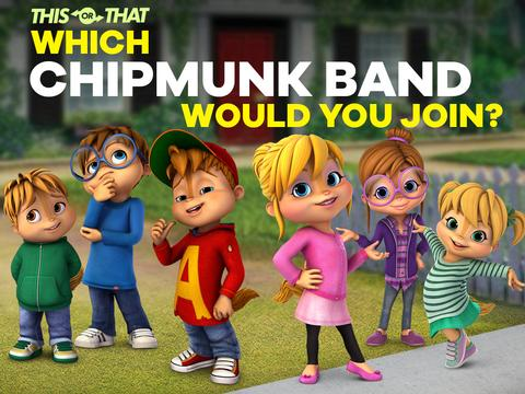 ALVINNN!!! and the Chipmunks: Which Chipmunk Band Would You Join?