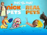 Nickelodeon: Nick Pets or Real Pets