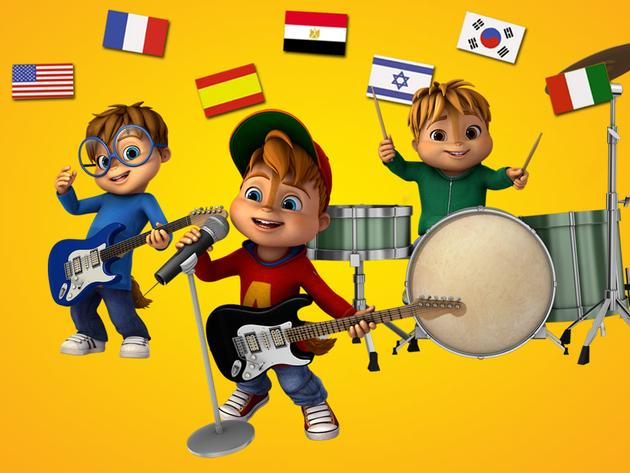 """ALVINNN!!! and the Chipmunks: """"Alvin in 7 Languages"""""""