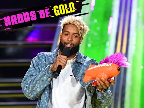 Kids' Choice Sports 2017: Odell Beckham Jr. Wins Hands of Gold Award