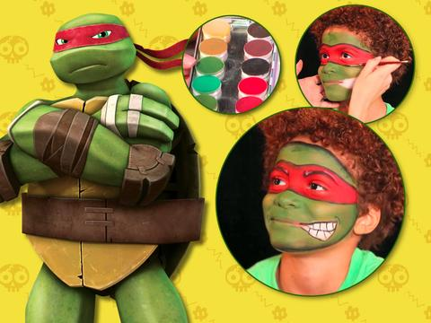 """Teenage Mutant Ninja Turtles: """"Raphael Makeup Tutorial"""""""