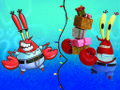 Even Mr. Krabs is taking a holiday break from penny-pinching?! It's a Christmas miracle!