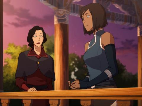 "Legend Of Korra: ""Korra and Asami Talk at the Pavilion"""