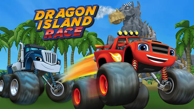 dragon island race blaze games for toddlers