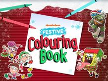 Nickelodeon Festive Colouring Book