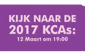 Kijk naar de 2017 KCAs: 12 Maart om 19:00