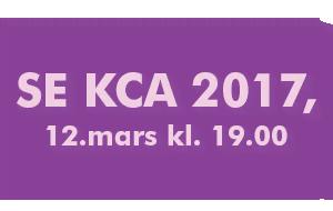 Se KCA 2017, 12.mars kl. 19.00