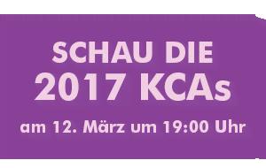 Schau die 2017 KCAs am 12. März um 19:00 Uhr
