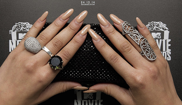 Nail Art at the 2014 MTV Movie Awards