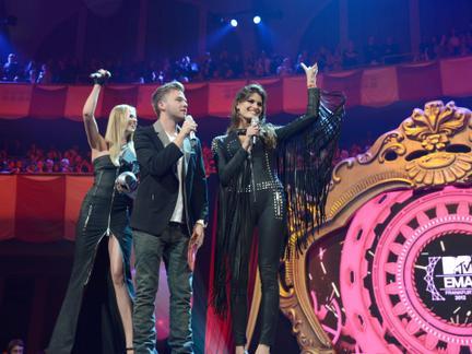 Presentadores de los MTV EMA 2012.
