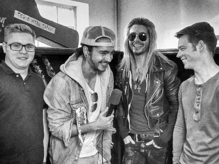 Tokio Hotel ricevono il premio per Biggest Fans EMA