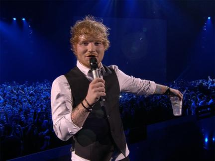 Ed Sheeran Was A Spirited EMA Host