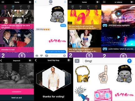 L'appli MTV EMA arrive avec des Stickers cette année!