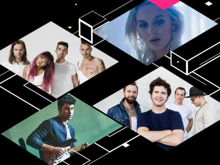 SHAWN MENDES, DNCE, LUKAS GRAHAM EN ZARA LARSSON TREDEN OFFICIEEL OP TIJDENS DE MTV EMA 2016 IN ROTTERDAM
