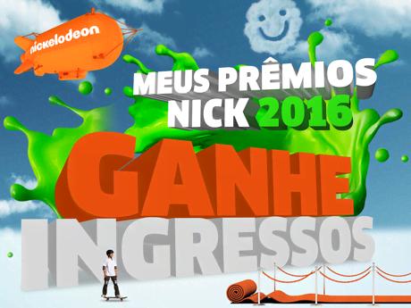 Ganhe ingressos para o Meus Prêmios Nick 2016!