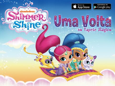Resultado de imagem para Shimmer and shine uma volta no tapete mágico