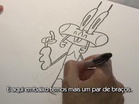 Porco Cabra Banana Grilo | Short | Como Desenhar o Grilo