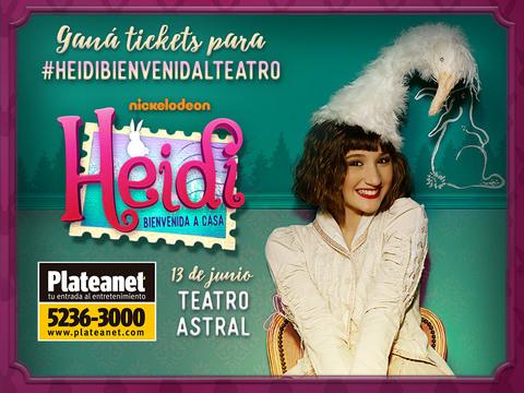 ARGENTINA: ¡Participa por entradas para la avant premiere exclusiva de #HeidiBienvenidaAlTeatro!