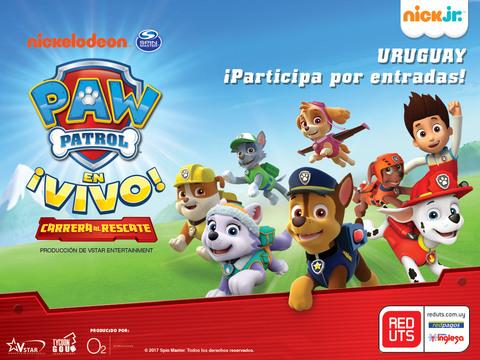 URUGUAY: ¡Participa por entradas al show de Paw Patrol para tu familia!