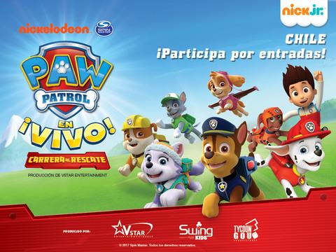 CHILE: ¡Participa por entradas al show de Paw Patrol para tu familia!