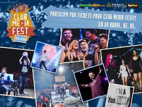 ¡PARTICIPA POR TICKETS PARA CLUB MEDIA FEST ARGENTINA!