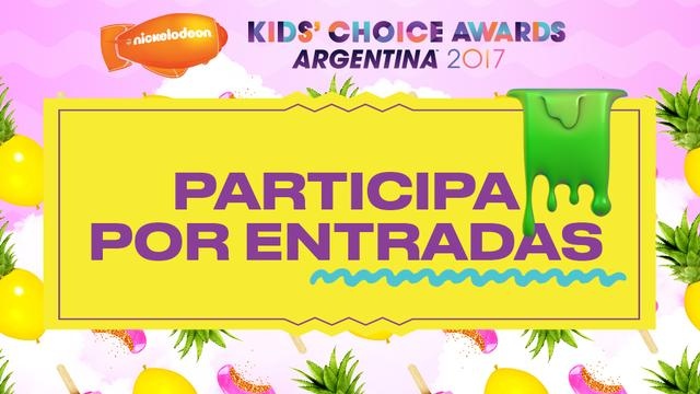 ¡Participa por entradas para los Kids' Choice Awards Argentina 2017!