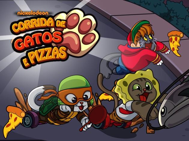 Tartarugas Ninja | Jogos | Corrida da Gatos e Pizzas