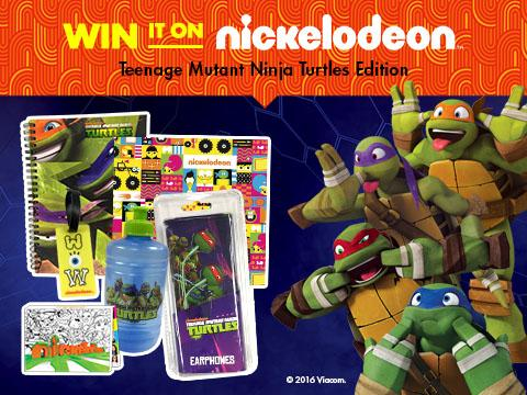 Win It On Nickelodeon: Teenage Mutant Ninja Turtles Edition