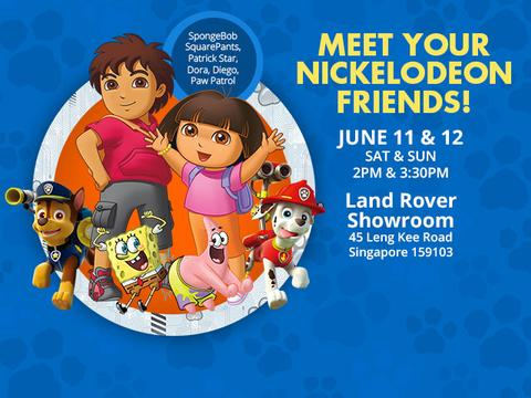 Meet Your Nickelodeon Friends at the Land Rover Showroom!
