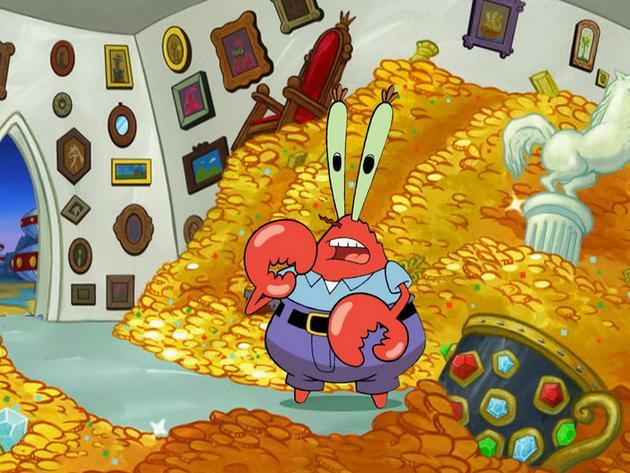 SpongeBob Golden Moment: A Money Avalanche