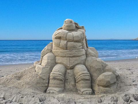 Il castello di sabbia delle Tartarughe Ninja
