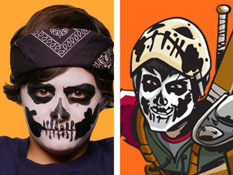 Il face painting di Casey Jones: tutorial