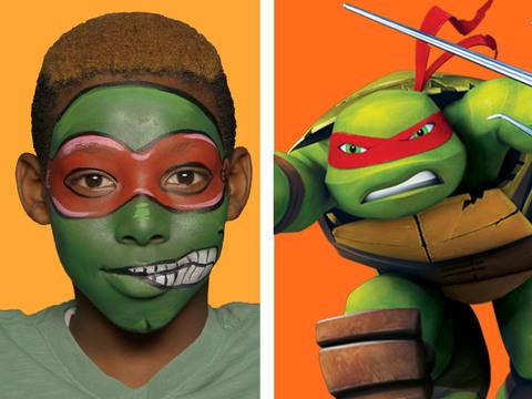 Tartarugas Ninja | Short | Pintura Facial - Raphael