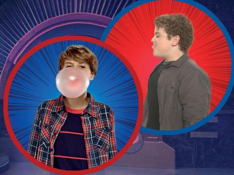 Nick Stars Bubble-Blowing Contest Jace Vs Sean
