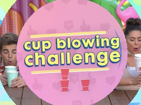 Cup Blowing Challenge