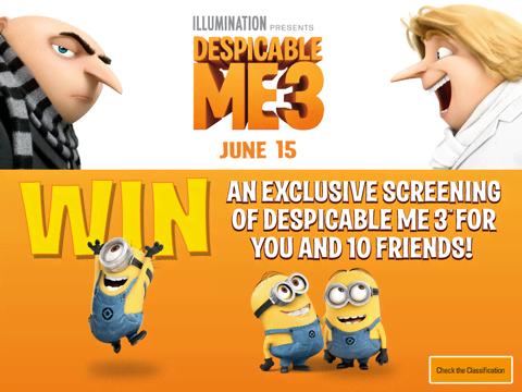 Despicable Me 3 Competition