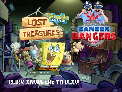 Danger Rangers play Spongebob Lost Treasures!