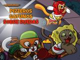 Pizzeros gatunos sobre ruedas