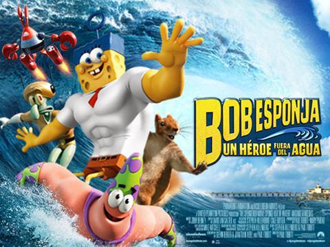 """El trailer de la peli: """"Bob Esponja, un Héroe Fuera Del Agua"""""""