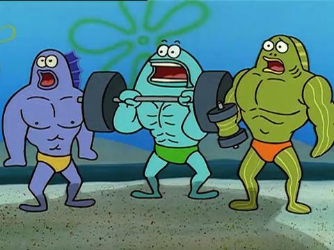 Bob Esponja: ¡Vaya músculos!