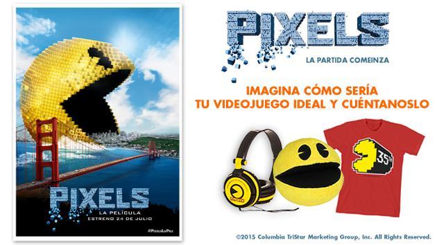 La película PIXELS, LA PARTIDA COMIENZA te regala un pack exclusivo de la peli.