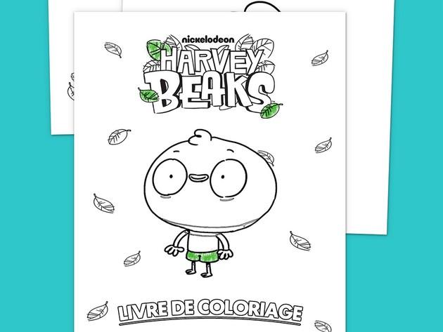 Livre de coloriages Harvey Beaks !