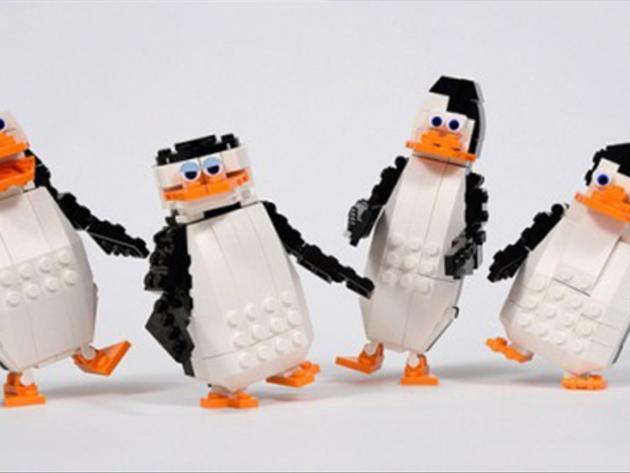 Pinguinii din Madagascar, în varianta Lego