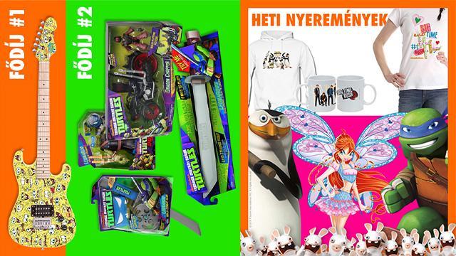 Játsszatok SpongyaBob és Tini Nindzsa Teknőcök ajándékokért!