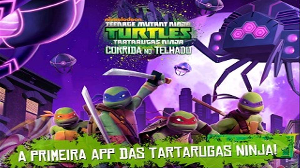 Conhece a nova aplicação Tartarugas Ninja: Corrida no Telhado!